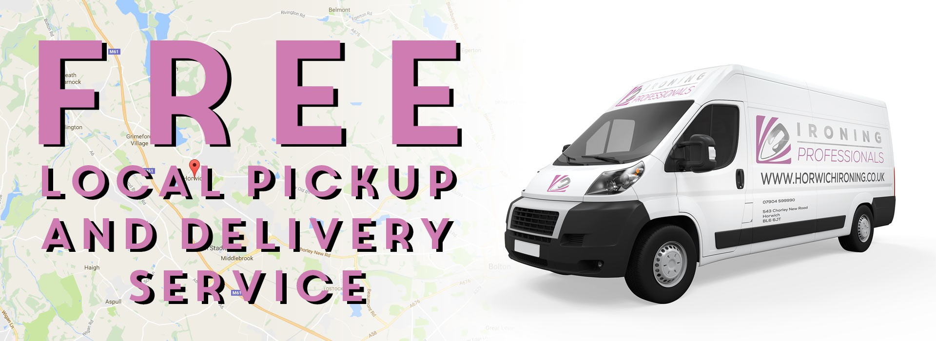 Free local pickup and delivery service