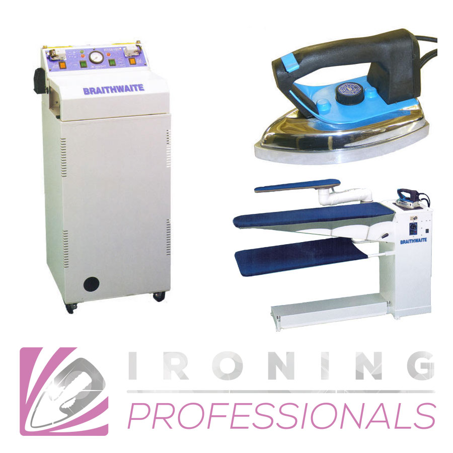 We only use the latest steam boiler irons and vacuum tables